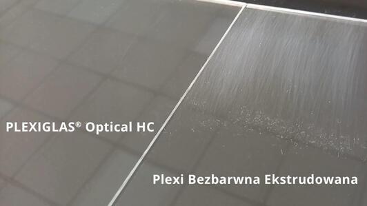 PLEXIGLAS® Optical HC – nierysująca się plexi!
